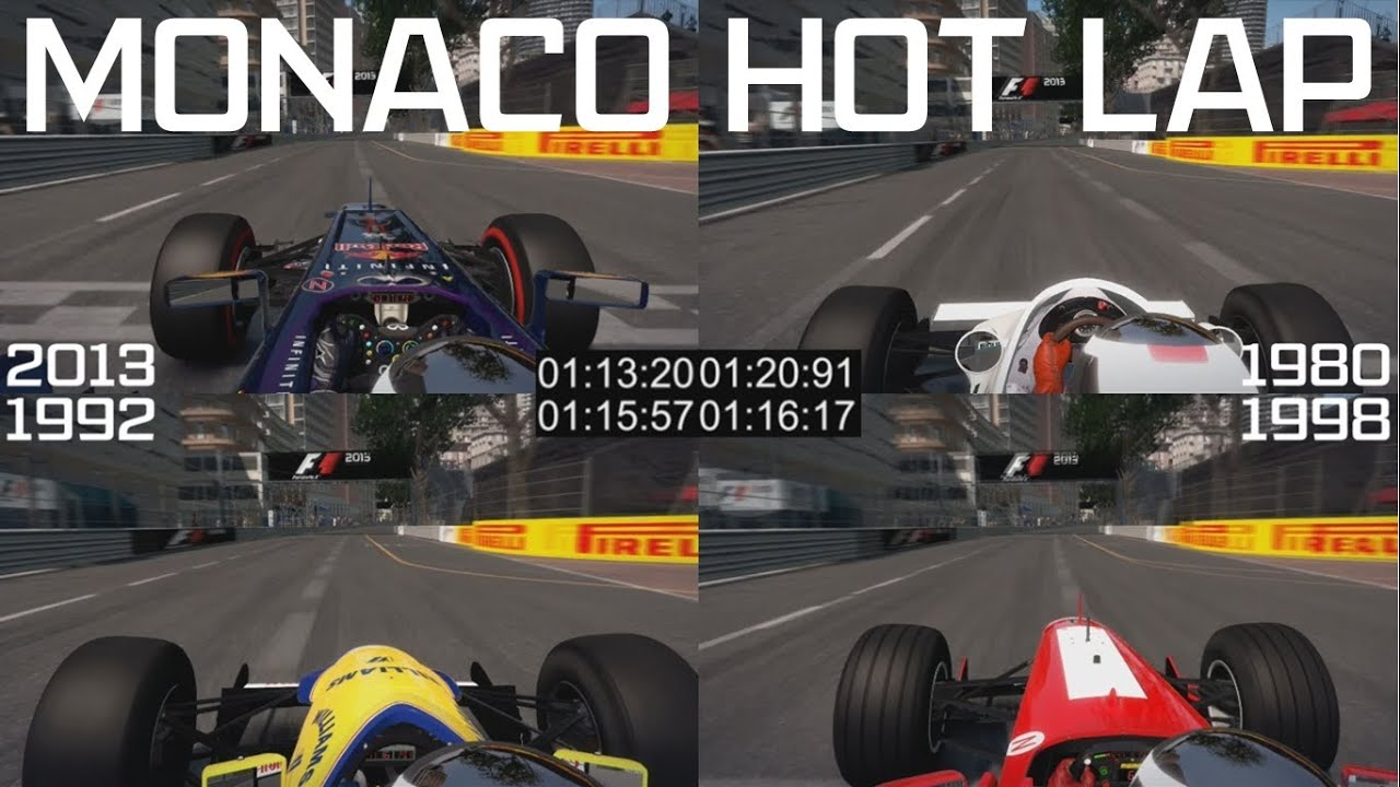 F1 2013 Monaco Hot Lap - 4 Car Classic and Modern ...