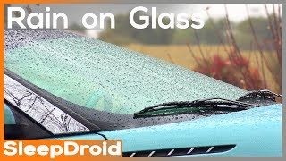 ►Fall asleep fast! HD Rain Video. 10 HOURS: Rain on Glass. Rain video for sleeping. Actual Real Rain