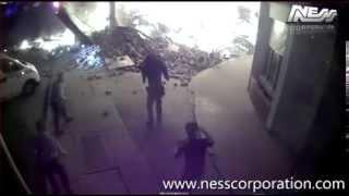 Tentativa de assalto a multibanco falhada, assaltante fica preso na explosão