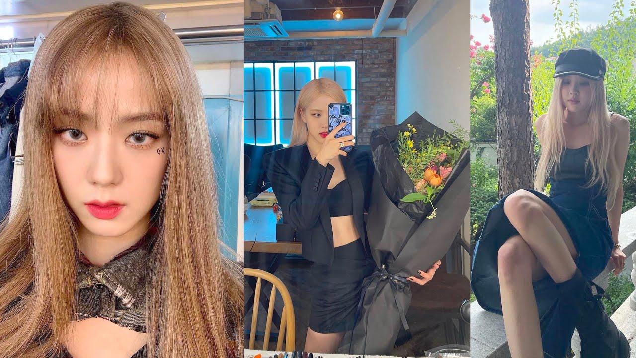 Jisoo's blonde hair revealed, Rosé updates