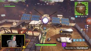 YouTubers Reaction on Dusty Depot Getting Struck by Meteor In Fortnite