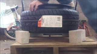 ひっぱりタイヤを作ろー ビード爆発 tire stretch 引っ張り