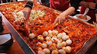 Сделано из гигантской железной пластины! Вкусные корейские токбокки ТОП 3. / korean street food