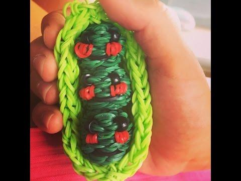 Плетение d гороха из резинок rainbow loom
