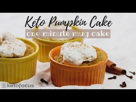 KETO PUMPKIN MUG CAKE | One minute low carb cake | Keto Pumpkin Recipe