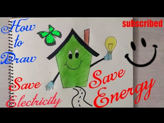 How to draw Save Electricity Coloring poster step by step || save Electricity drawing ||