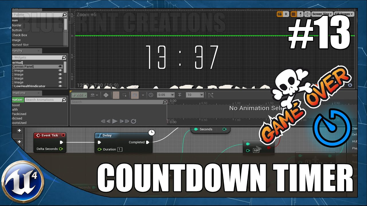 Countdown timer with game over 13 unreal engine 4 blueprint countdown timer with game over 13 unreal engine 4 blueprint creations tutorial malvernweather Gallery