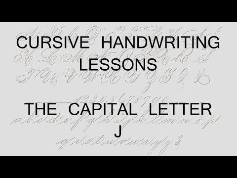 Cursive lesson 40 Capital letter J handwriting penmanship calligraphy copperplate