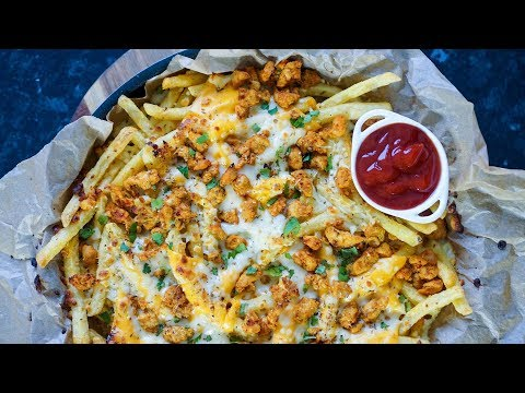 Chicken Tikka Pizza Fries Recipe | Ramadan Recipes | Quick & Cheesy Recipe | Hungry for Goodies