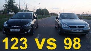Lada Priora против Hyundai Solaris(, 2013-07-04T15:19:25.000Z)