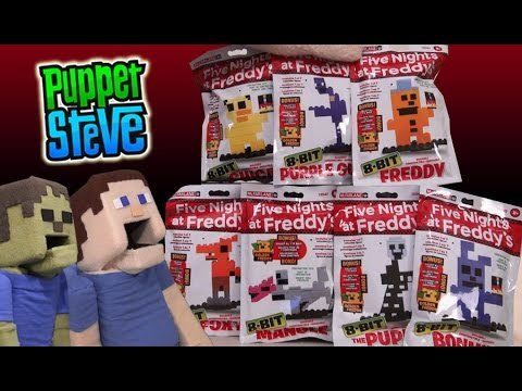 Five Nights at Freddy&39;s Fnaf 8 BIT Figures Set Minecraft Unboxing McFarlane Toys Review TGN Network