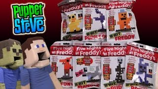 Five Nights at Freddy's Fnaf 8 BIT Figures Set Minecraft Unboxing McFarlane Toys Review TGN Network