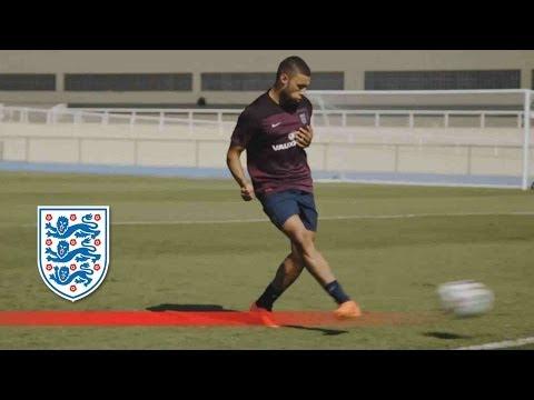 England v Uruguay finishing training