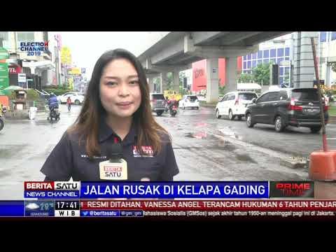 Imbas Proyek LRT, Jalan Kelapa Gading Rusak Parah