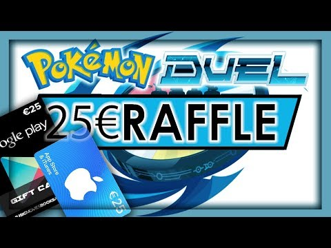 Pokemon duel, Raffle-ment, 25€ giftcard for GooglePlay or Apple App Store