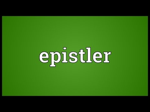 Header of epistler