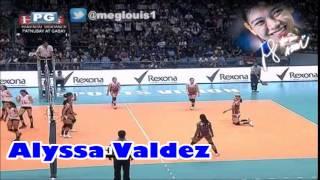 ウィングスパイカー Alyssa Valdez vs Diliman, Quezon City 1101,Metro Manila 😆