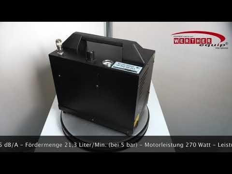 BLACK-WIDOW (Leiselaufkompressor) tragbar (silent compressor)