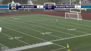 Acton Boxborough Varsity Boys Soccer vs Brookline MIAA Semi Finals 11/11/14