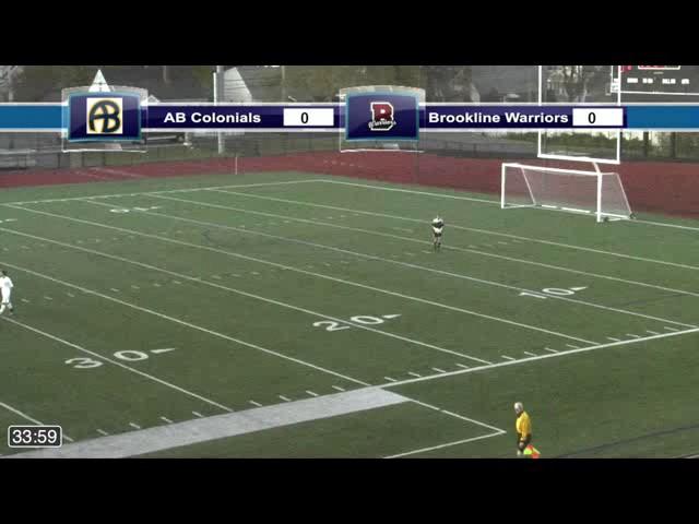 Acton Boxborough Varsity Boys Soccer vs Brookline MIAA Semi Finals 11/11/14