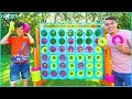 Giant Connect 4 Kids Game Challenge | Playing Funny Life Size Toys