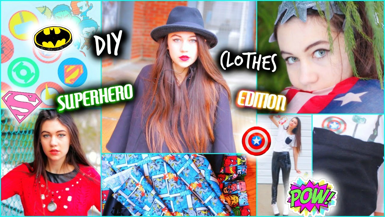 Diy clothes superhero inspired ideas youtube solutioingenieria Choice Image