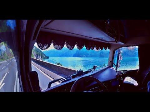 Trucking Around Italian And Swiss Lakes 4K