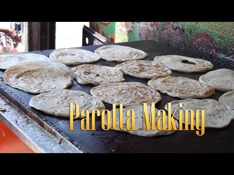 Parotta and egg Omelet making - Omelette - Indian street food