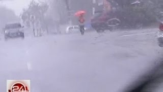 24Oras: Ilang kalsada, halos mag-zero visibility dahil sa malakas na ulan
