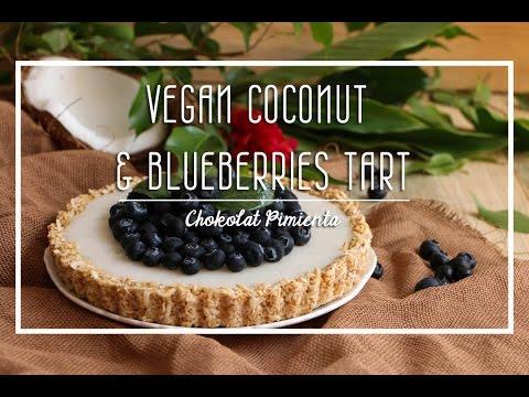 Vegan coconut and Blueberries Tartlet   Chokolat Pimienta ♥