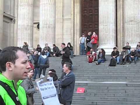 Occupy LSX Mad Man Preaching
