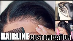 """How I Re-Create A """"PERFECT HAIRLINE"""" On 360 Lace Wig {Tweezing Lace Wigs} ft. UUHAIR"""