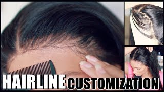 How I Re Create APERFECT HAIRLINEOn 360 Lace Wig ft UUHAIR
