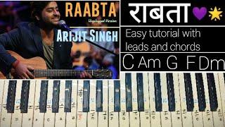 Raabta - Easy Piano Tutorial | कहते हैं खुदा ने इस जहां में सभी के लिए | राबता | | Arijit Singh