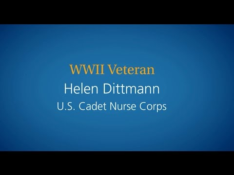 Helen Dittman, US Cadet Nurse Corps, WWII Mount Carmel Hospital