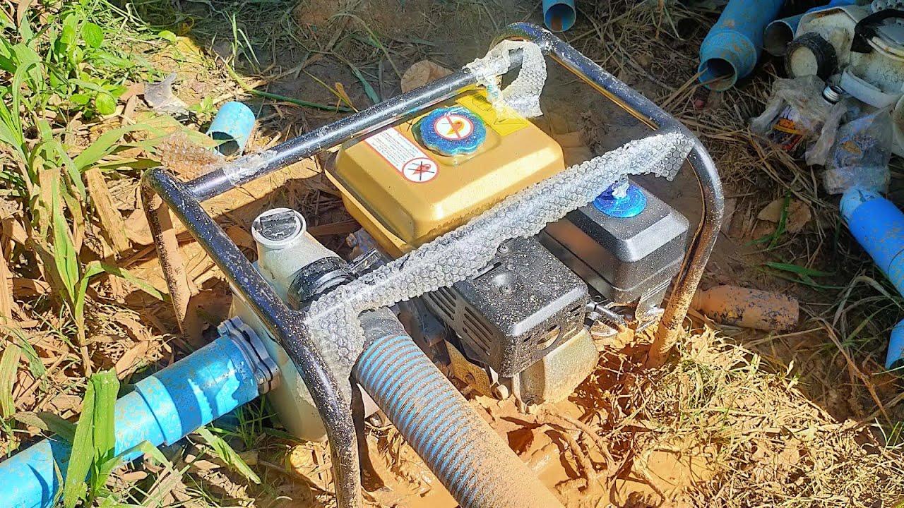รีวิวเครื่องสูบน้ำตราหมาขาว2นิ้ว 5.5แรง สูบน้ำบาดาลจากท่อกันพัง