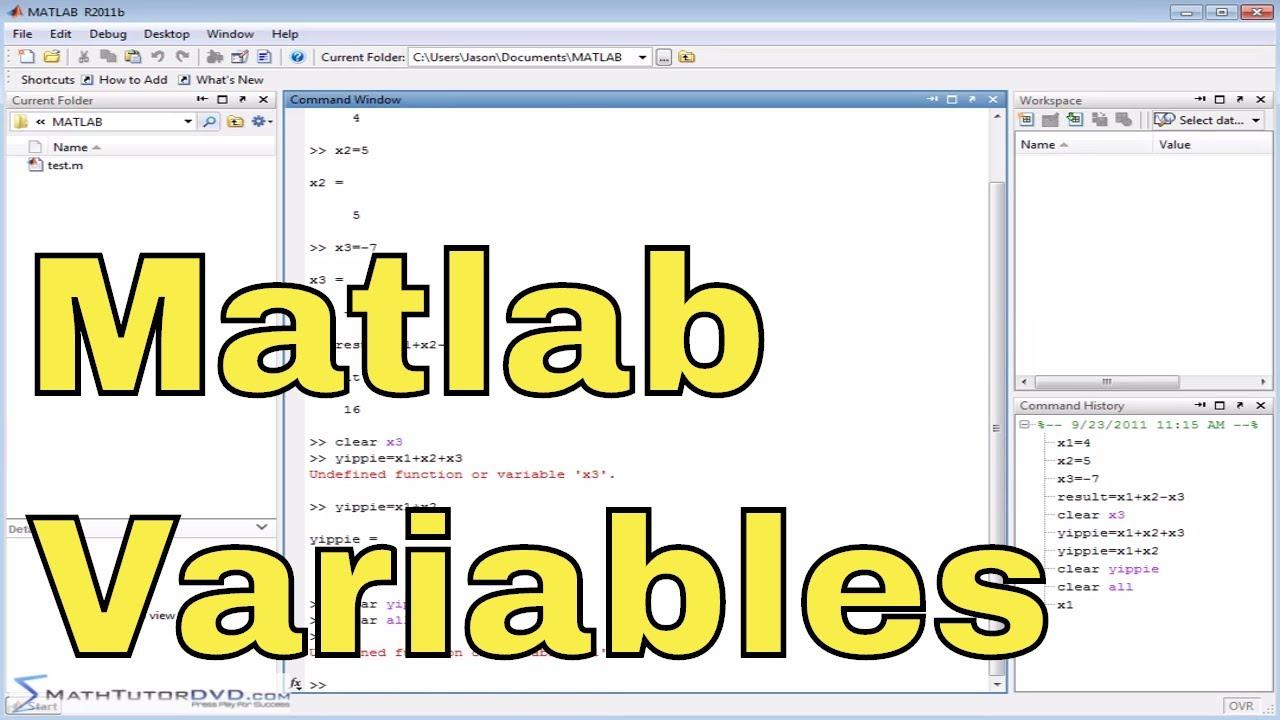 Matlab Online Tutorial 11 Clearing Variables Matlab Tutorial