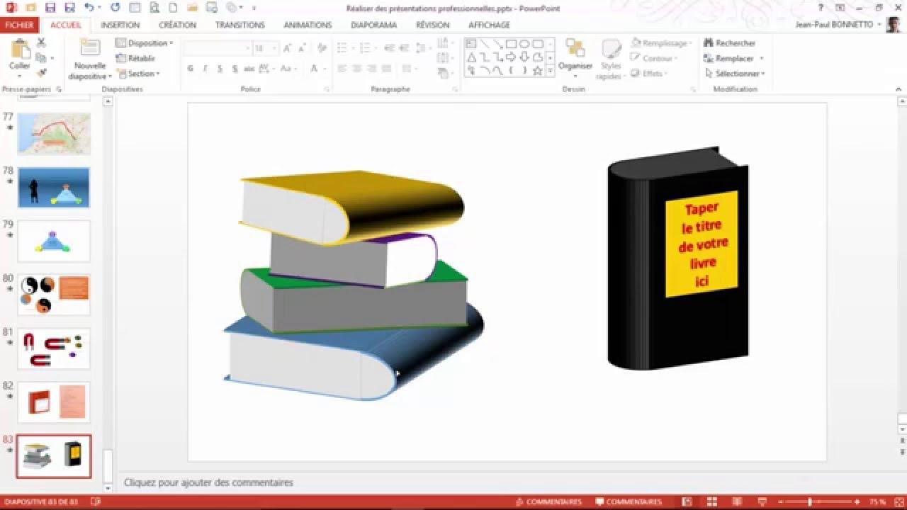 Powerpoint Comment Dessiner Et Personnaliser Un Livre En 3d