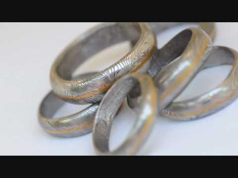 Kovane Snubni Prsteny Damasteel A Zlato Youtube