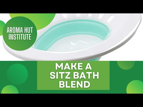 How To Make A Sitz Bath Essential Oil Blend For Uti Youtube