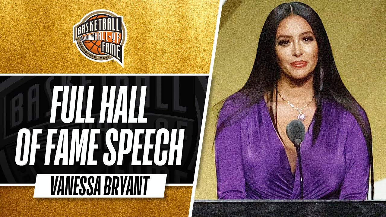 Vanessa Bryant gives powerful speech inducting Kobe Bryant into ...