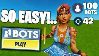 100 BOTS Lobby Glitch in Fortnite! (Bots ONLY Lobby Glitch)