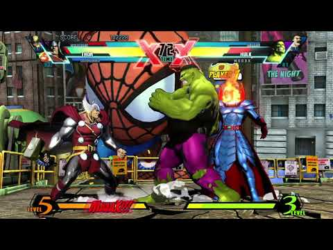 Requested ULTIMATE MARVEL VS. CAPCOM 3 Wolverine/Dormammu/Thor Arcade Gameplay |