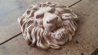 Lion`s head with CNC. Голова льва на ЧПУ