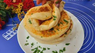 Пушистые мягкие турецкий лепёшки Базлама Быстрого приготовления Хлеб на сковороде Рецепты