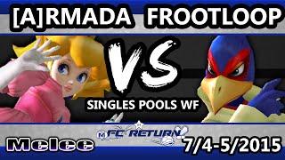 FC Return - Frootloop (Falco) Vs. [A] Armada (Peach) SSBM Pools WF - Smash Melee