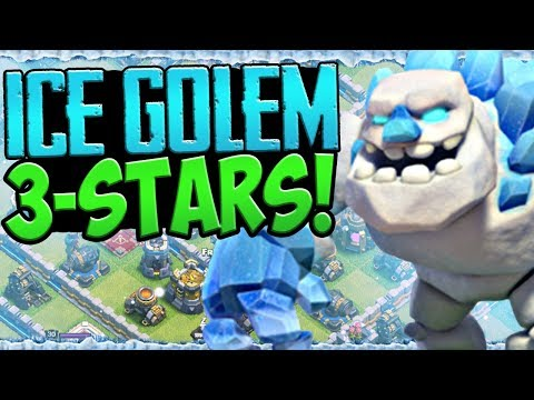 ICE GOLEM Strategy! Clash Of Clans UPDATE Town Hall 10-12