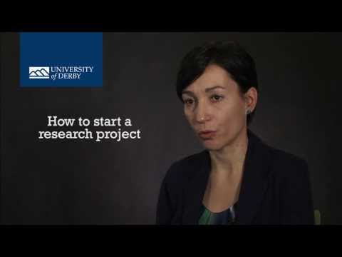 How to start a PhD research project