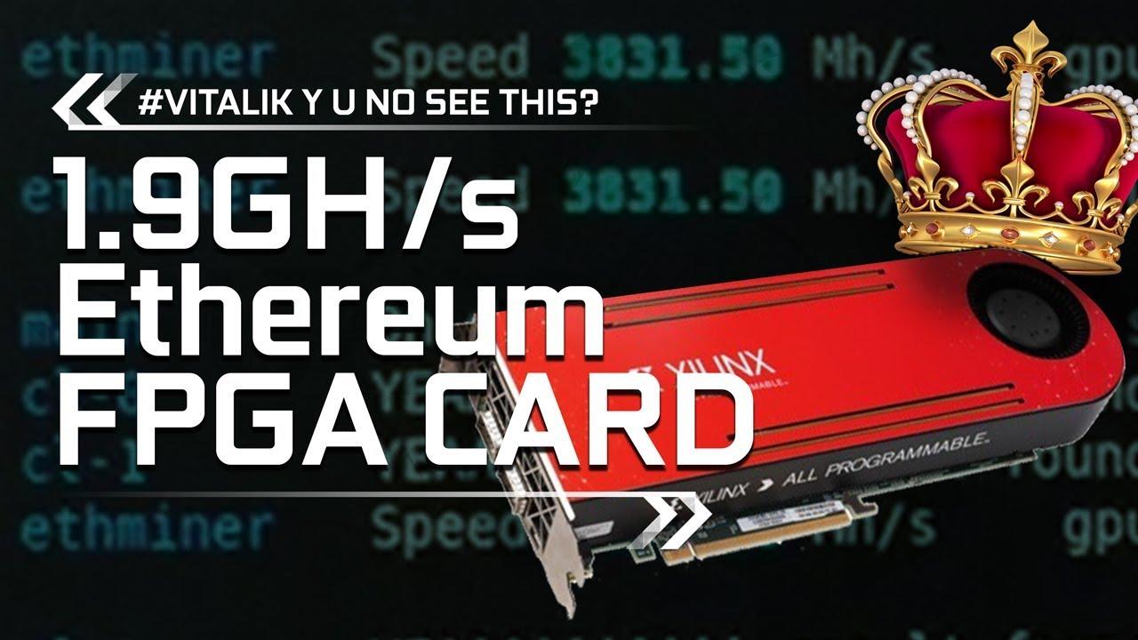 LEAKED 1 9Gh/s Ethereum Mining FPGA Card (Ubimust Lure Video :D)