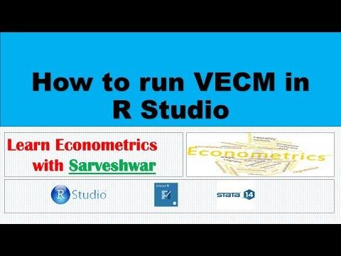How to run Vector Error Correction Model in R Studio
